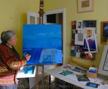 Jeannine Allen in her Plymouth studio