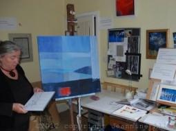 Jeannine in her studio